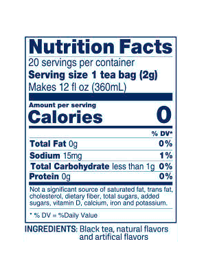Nutritional information image